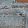 Blue Jeans Tag — Stock Photo