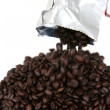 Coffee Beans From Bag — Stock Photo
