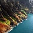 Aerial View Of Na Pali Coast - Stock Photo
