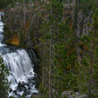 Yellowstone Falls Rushing River — Stock Photo