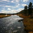 Stock Photo: Flyfishing River Skyscape