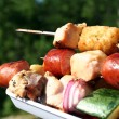 kabobs on the grill — Stock Photo