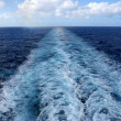 Wake From Cruise Ship - Stock Photo