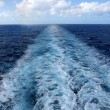 Wake From Cruise Ship — Stock Photo
