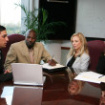 Business Team Presentation — Stock Photo