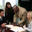 Business Team Signing Contract — Stock Photo #10004789