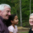 Stock Photo: grandparents with grandaughter