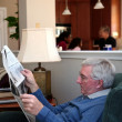 Man Reading Newspaper — Stock Photo #10005000