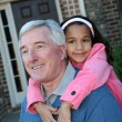 Stock Photo: Grandfather with Grandchild