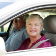 Senior Couple In Car — Stockfoto
