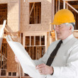 Senior Construction Foreman — Stock Photo