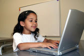 Child on Computer — Stock Photo