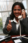 Businesswoman Thumbs Up — Stock Photo