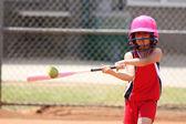 Girl Playing Softball — Stock Photo
