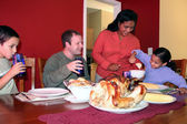 Thanksgiving Family Dinner — Stockfoto