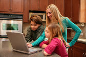 Family on Computer — Foto Stock