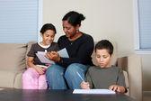 Familie werken — Stockfoto