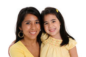 Woman and Daughter On White Background — Stock Photo