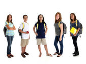 Students On White Background — Stock Photo