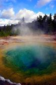 Yellowstone modrá díra — Stock fotografie