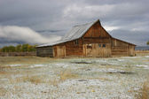 Barn Covered In Snow — Stock Photo