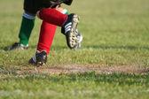 Running On Soccer Field — Stock Photo