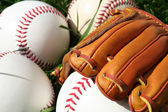 Baseballs and Glove — Stock Photo