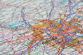 Atlanta haritası — Stok fotoğraf
