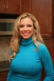 žena v kuchyni — Stock fotografie