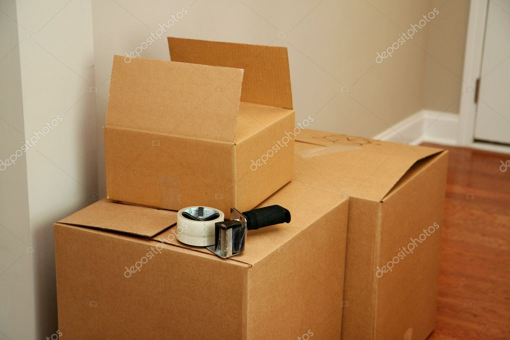 Moving boxes  Stock Photo #10004308