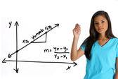 Matematik student — Stockfoto