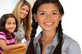 Mädchen mit Lehrer — Stockfoto