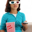 Child watching movie — Stock Photo
