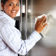 Woman Cleaning Refrigerator — Stock Photo