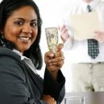 Businesswoman With Money — Stock Photo #9997974