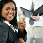 Businesswoman With Money — Stock Photo #9997977