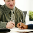 Businessman Writing — Stockfoto