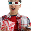 child watching movie — Stock Photo #9998392