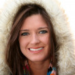 Woman Wearing Winter Coat — Stock Photo #9998810