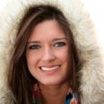 Woman Wearing Winter Coat — Stock Photo