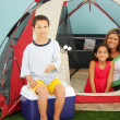 family camping — Stock Photo
