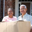Senior Couple Moving — Stock Photo