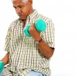 Senior Man Lifting Weights — Stock Photo #9999896