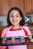 Fille avec les cookies — Photo