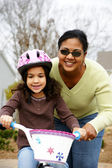 Learning To Ride A Bike — Stock Photo