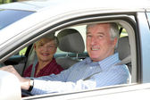 Senior Couple In Car — Stock Photo