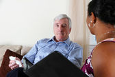 Man in Counseling — Stock Photo