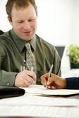 Businessman Writing — Fotografia Stock