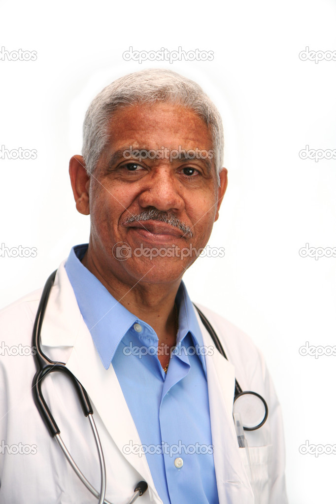 Minority doctor set on white background — Stock Photo #9997196