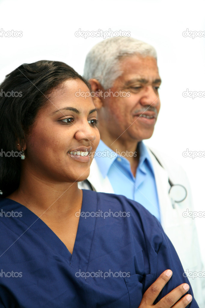Minority doctor set on white background — Stock Photo #9997198